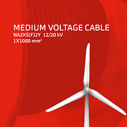 Medium voltage cable —Large cross section now from stock.