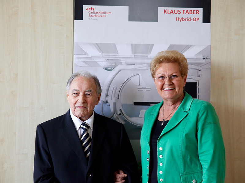 Klaus Faber Foundation enables construction of a hybrid operating theatre at the CaritasKlinikum