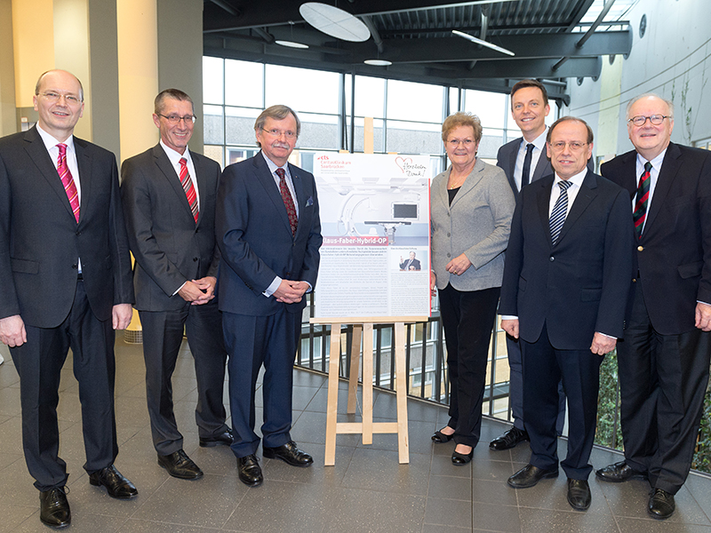 A € 1.6 m donation – Klaus Faber Foundation supports the St. Theresia Caritas Clinic in Saarbrücken  | Official opening of the new hybrid operating theatre on 8 March 2017