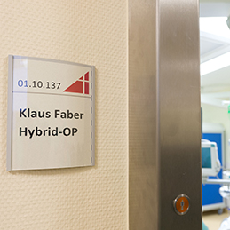 Official opening of the Klaus Faber hybrid operating theatre