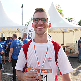 Pretty fast. Faber at the B2RUN company run 2017 in Dillingen.