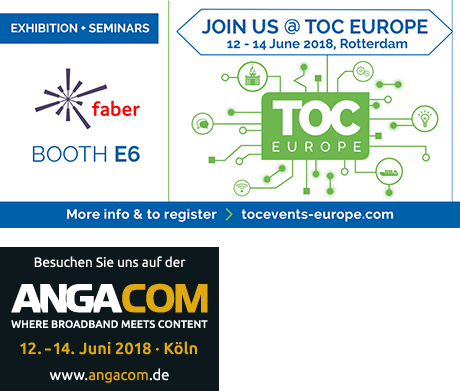 Faber at Toc Europe and Anga Com 2018