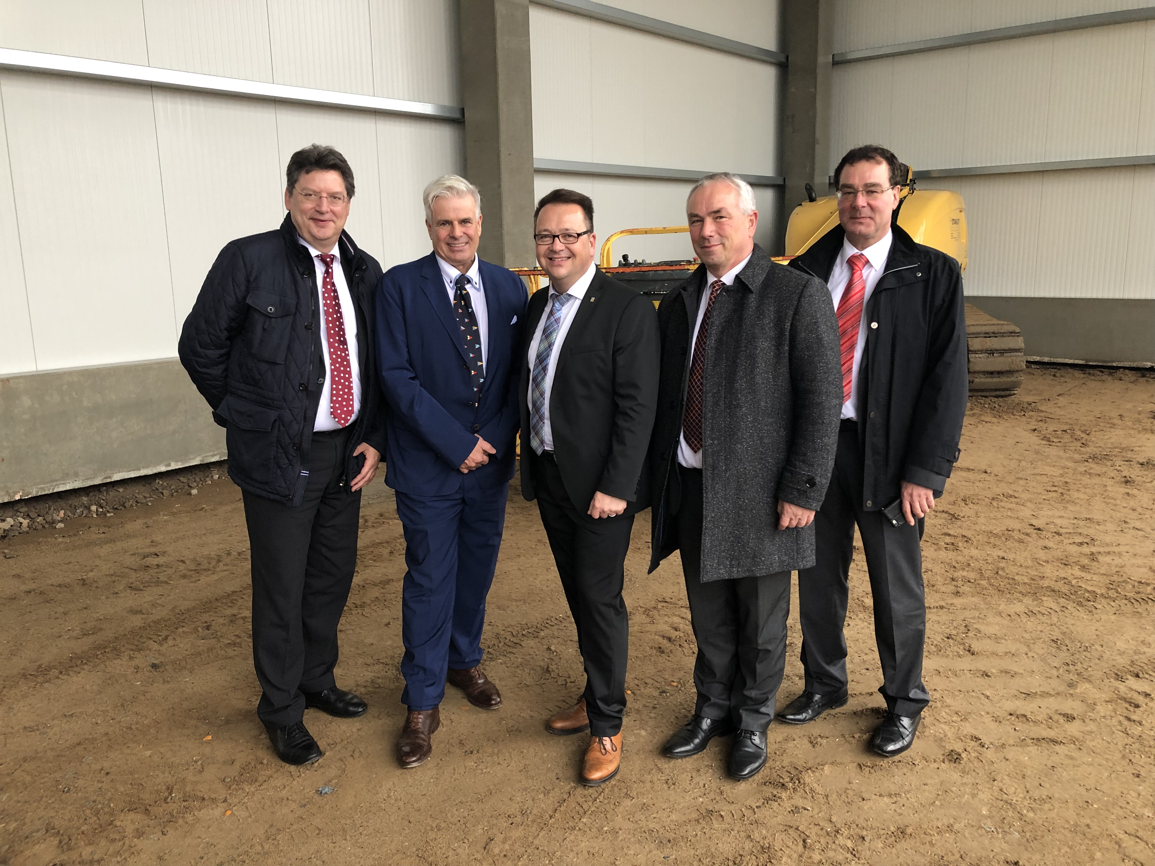 Topping-out ceremony for new logistics centre of Friesland-Kabel GmbH in Wismar