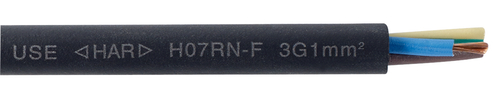 Rubber insulated cable H07RN-F