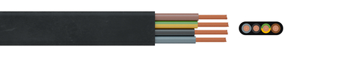 Rubber flat cable NGFLGOEU  0.6/1 kV