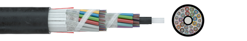 Optical fibre cable - standard - outdoor A-DQ(ZN)B2Y      3,0 kN G.652D (HT)